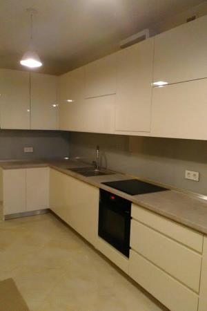 Пример кухни с фасадом МДФ крашеным №2